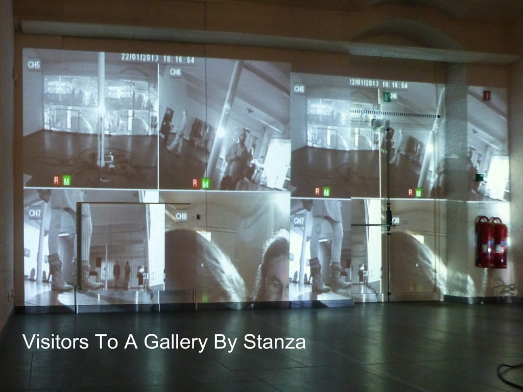 surveillance art Visitors to a gallery By Stanza